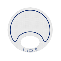 Lidz Small Blue/White Bait Lid