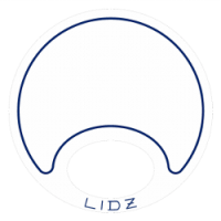 Lidz Large Blue/White Bait Lid