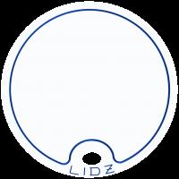 Lidz Large Blue/White Lid